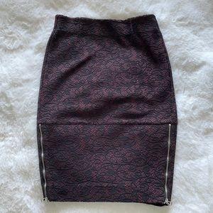 Aritzia lace pencil skirt